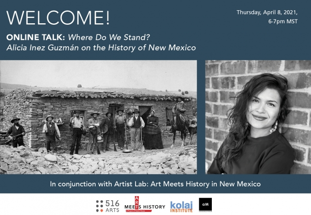 Where do we stand? Dr. Alicia Inez Guzmán on the history of New Mexico exhibition image